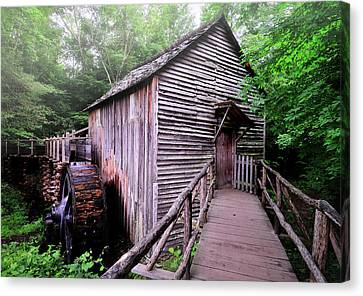 Old Mill Scenes Canvas Print - The Cable Grist Mill by Expressive Landscapes Fine Art Photography by Thom