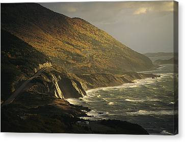The Cabot Trail Winds Its Way Canvas Print by Raymond Gehman