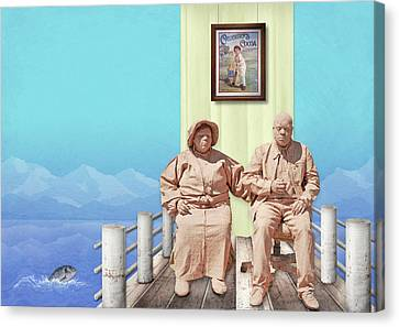 The Cadburys On Vacation Canvas Print by Marty Garland