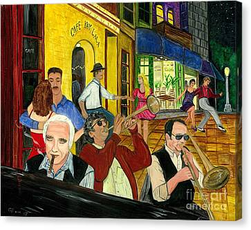 Canvas Print featuring the painting The Cafe by Gail Finn