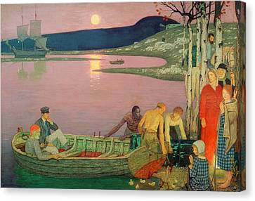 Gathering Canvas Print - The Call Of The Sea by Frederick Cayley Robinson