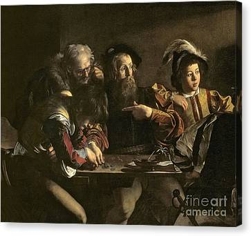 Calling Canvas Print - The Calling Of St. Matthew by Michelangelo Merisi da Caravaggio