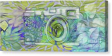 Canvas Print featuring the digital art The Camera - 02c5b by Variance Collections