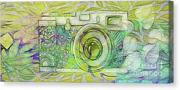 Canvas Print featuring the digital art The Camera - 02c5bt by Variance Collections