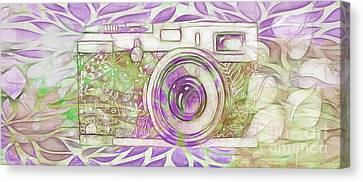 Canvas Print featuring the digital art The Camera - 02c6 by Variance Collections