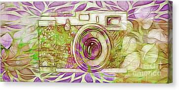 Canvas Print featuring the digital art The Camera - 02c6t by Variance Collections
