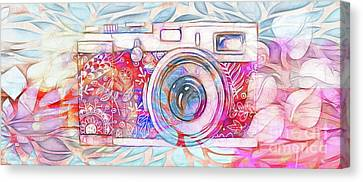 Canvas Print featuring the digital art The Camera - 02c8v2 by Variance Collections