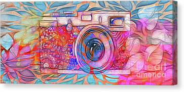 Canvas Print featuring the digital art The Camera - 02v2 by Variance Collections