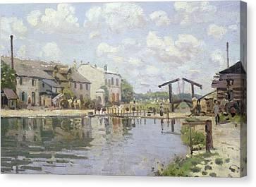 Saint-martin Canvas Print - The Canal Saint Martin Paris by Alfred Sisley