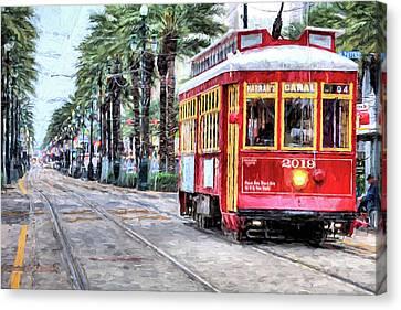 The Canal Street Streetcar Canvas Print