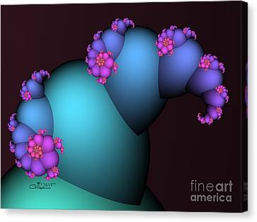 The Candy Plant Canvas Print by Jutta Maria Pusl
