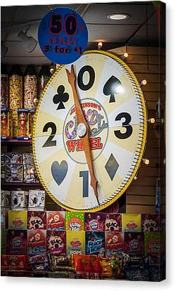 The Candy Wheel Point Pleasant Boardwalk Canvas Print by Terry DeLuco