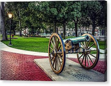The Cannon In The Park Canvas Print