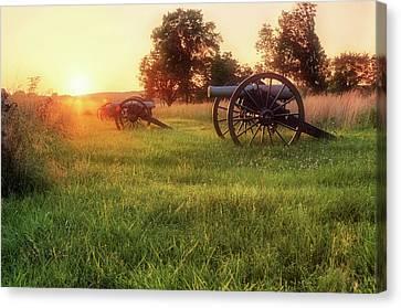 The Cannons Of Pea Ridge - Arkansas - Civil War Canvas Print by Jason Politte