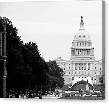 Canvas Print featuring the photograph The Capital Building by Laura DAddona