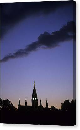 The Capitol Buildings Silhouetted Canvas Print by Taylor S. Kennedy