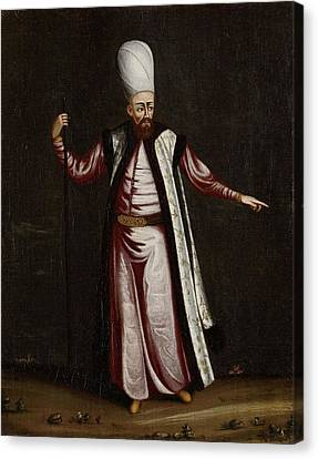 The Capoudgi Bachi, Grand-master Of The Seraglio, Jean Baptiste Vanmour, 1700 - 1737 Canvas Print by Celestial Images