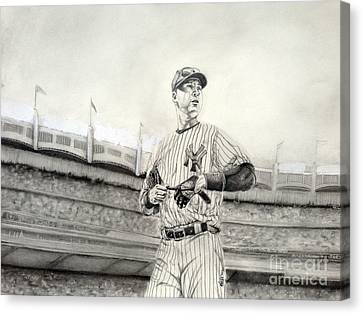 The Captain - Derek Jeter Canvas Print by Chris Volpe