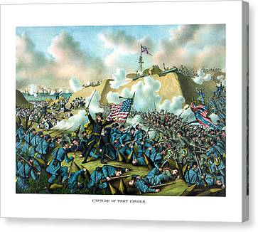 The Capture Of Fort Fisher Canvas Print by War Is Hell Store