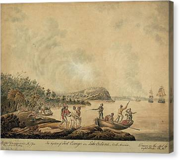 The Capture Of Fort Oswego On Lake Canvas Print by Everett