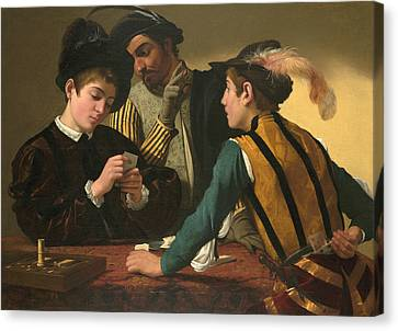 The Cardsharps  Canvas Print by Caravaggio