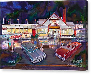 The Carnival Portland Oregon Canvas Print by Mike Hill