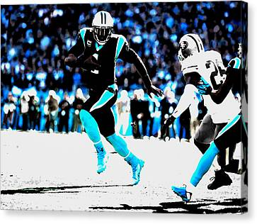 Tebow Canvas Print - The Carolina Panthers 06a by Brian Reaves