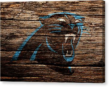 Tebow Canvas Print - The Carolina Panthers 4a by Brian Reaves