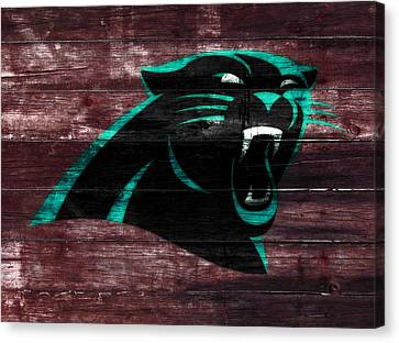 Tebow Canvas Print - The Carolina Panthers W7 by Brian Reaves