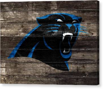 Tebow Canvas Print - The Carolina Panthers W8 by Brian Reaves
