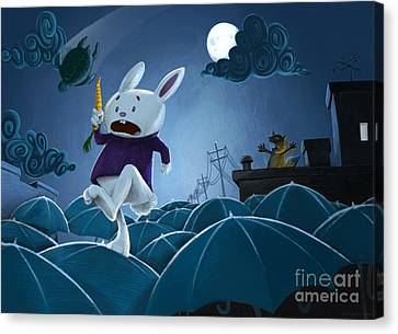 The Carrot Thief Canvas Print by Michael Ciccotello