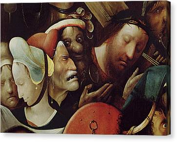 The Carrying Of The Cross Canvas Print by Hieronymus Bosch