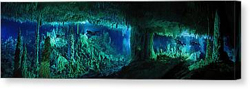 The Cascade Room Leads Divers Deeper Canvas Print by Wes C. Skiles
