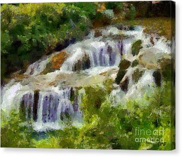 Lake Canvas Print - The Cascades Of Plitvice by Dragica  Micki Fortuna