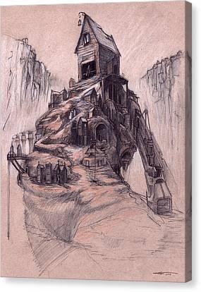 The Casket Maker's Shop  Canvas Print