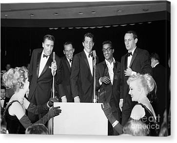 The Cast Of Ocean's 11 And Members Of The Rat Pack. Canvas Print