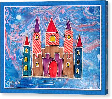 The Castle Is Festive Canvas Print