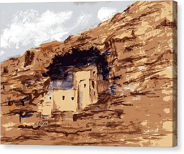 Canvas Print featuring the painting The Castle by Marilyn Barton