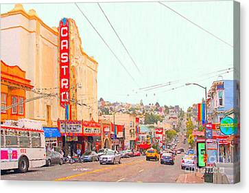 Bayarea Canvas Print - The Castro In San Francisco by Wingsdomain Art and Photography