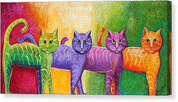 The Cat Walk Canvas Print