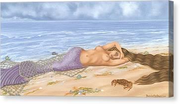 The Catch Canvas Print by Brenda Ellis Sauro