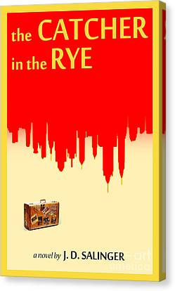 Famous Literature Canvas Print - The Catcher In The Rye Book Cover Movie Poster Art 1 by Nishanth Gopinathan