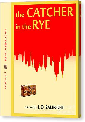 The Catcher In The Rye Book Cover Movie Poster Art 2 Canvas Print by Nishanth Gopinathan