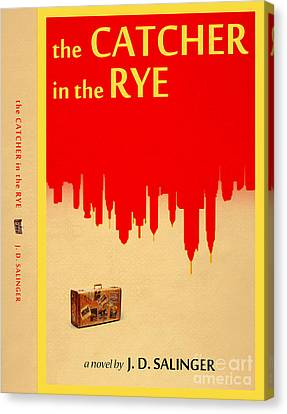 The Catcher In The Rye Book Cover Movie Poster Art 4 Canvas Print by Nishanth Gopinathan