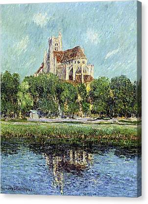 The Cathedral At Auxerre Canvas Print