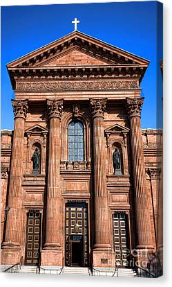 The Cathedral Basilica Of Saints Peter And Paul Canvas Print by Olivier Le Queinec