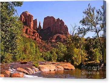The Cathedral Rocks Canvas Print by Alex Cassels