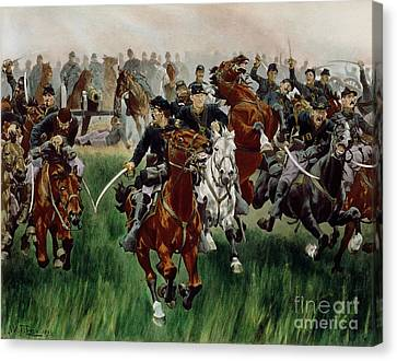 The Cavalry Canvas Print by WT Trego