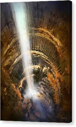 Canvas Print featuring the painting The Cavern by Andrew King