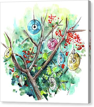 The Cd Tree In Muker Canvas Print by Miki De Goodaboom